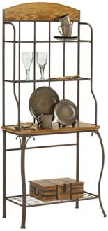 Hillsdale Lakeview Steel and Wood Baker's Rack (5P471)