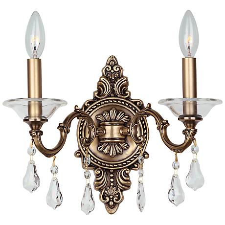 "Crystorama Delancey 10 1/2"" High 2-Light Bronze Sconce"
