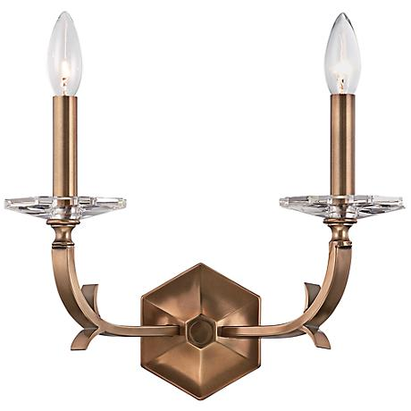 "Crystorama Hugo 10 1/2"" High 2-Light Bronze Sconce"