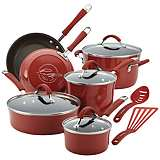 Rachael Ray Cucina 12-Piece Red Cookware Set