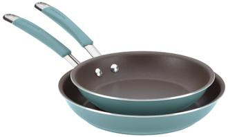 Rachael Ray Cucina 2-Piece Agave Blue Skillet Set (5R176) 5R176