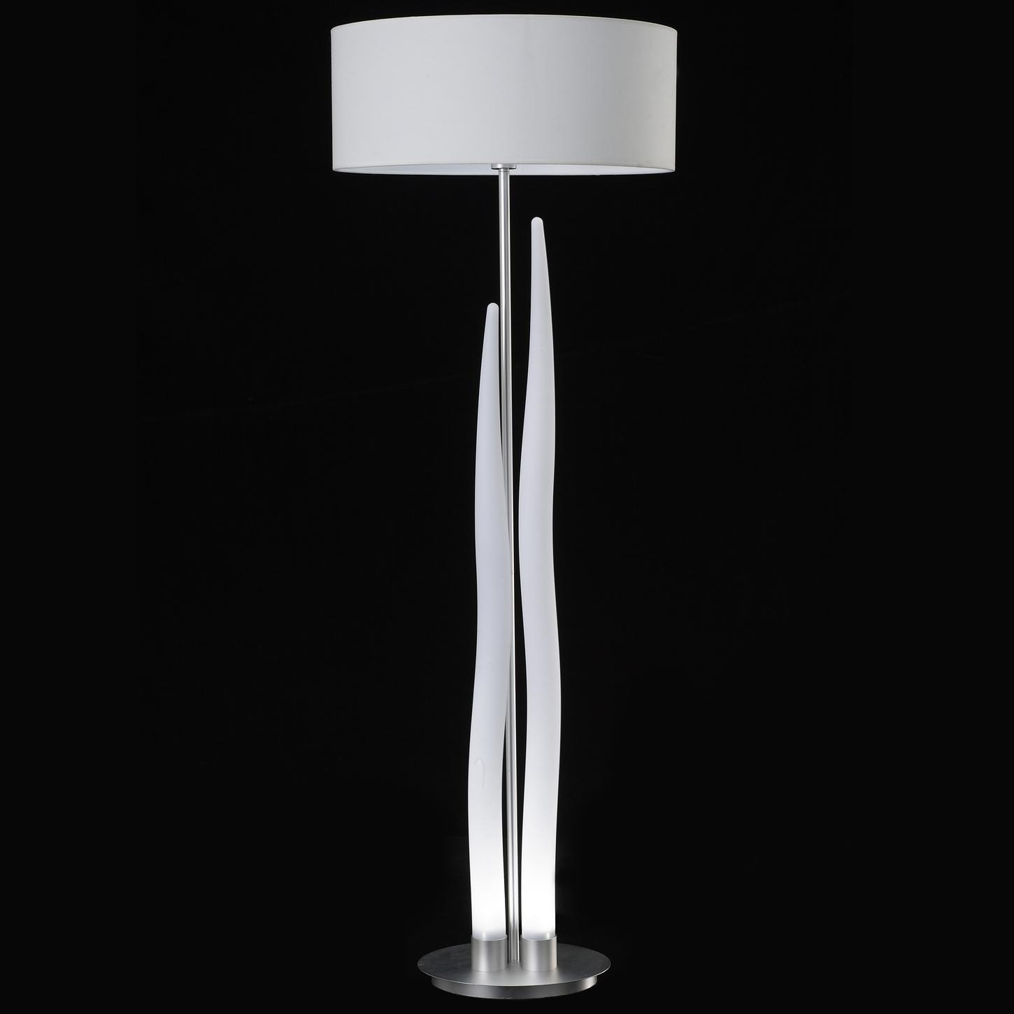 Barcelo Brushed Aluminum LED Floor Lamp with Shade (5R215)