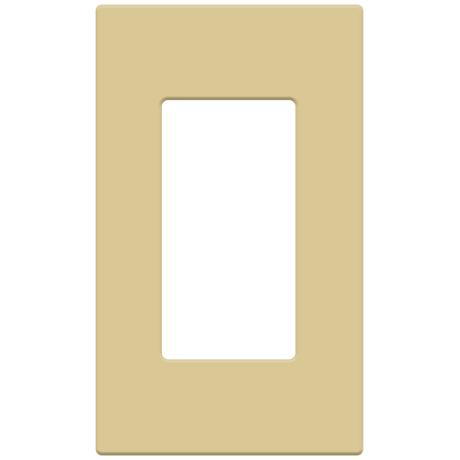 Leviton Single Screwless Decora Faceplate-Ivory