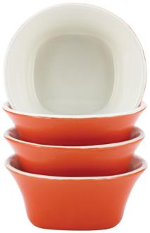 Rachael Ray Dinnerware 4-Piece Orange Fruit Bowl Set (5R441) 5R441