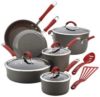 Rachael Ray Cucina Nonstick 12-Piece Cookware Set (5R468) 5R468