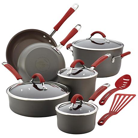 Rachael Ray Cucina Nonstick 12-Piece Cookware Set