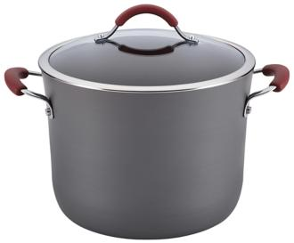 Rachael Ray Cucina Hard-Anodized 10-Quart Red Stockpot (5R474) 5R474