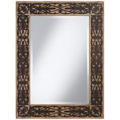 "Abelardo Laser Cut 30"" x 40"" Wood Wall Mirror"