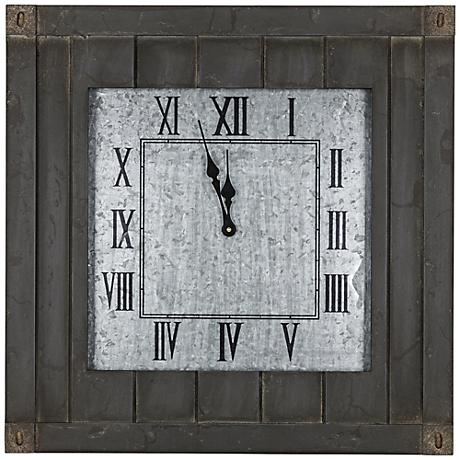 "Cooper Classics Rutledge 23 1/2"" Square Wall Clock"