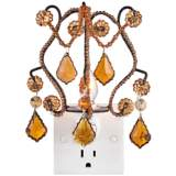 Maize Amber Chandelier Night Light