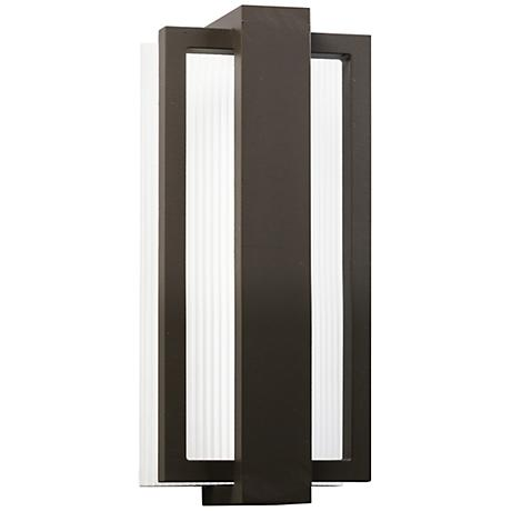 "Kichler Sedo 12 1/4"" High Bronze Outdoor LED Wall Light"