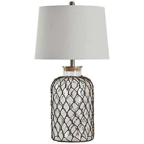Seeded Glass Table Lamp 5R909