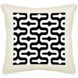 "Reflection Cream Canvas 18"" Square Pillow"