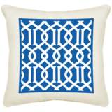 "Chain Reaction Cream Canvas 18"" Square Pillow"