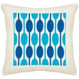 "Jet Set Cream Canvas 18"" Square Pillow"