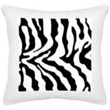 "Safari Zebra White Canvas 18"" Square Decorative Pillow"
