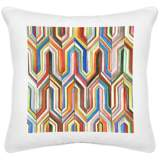 "Synthesis White Canvas 18"" Square Decorative Pillow"