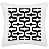 "Reflection White Canvas 18"" Square Decorative Pillow"