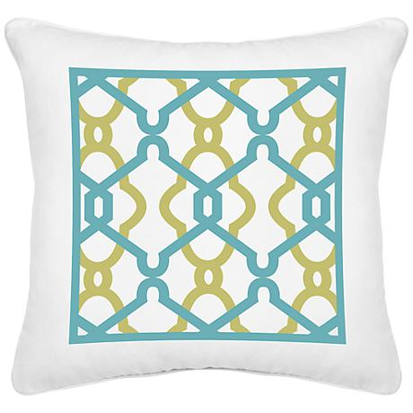 "Hyper Links White Canvas 18"" Square Decorative Pillow"
