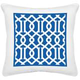 "Chain Reaction White Canvas 18"" Square Decorative Pillow"
