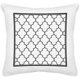 "Tangier White Canvas 18"" Square Decorative Pillow"