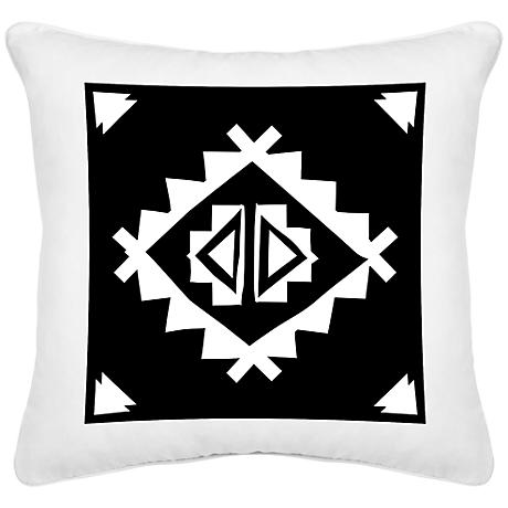 "Festival Crowd White Canvas 18"" Square Decorative Pillow"