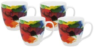 "On Color!"" Porcelain Mugs Set of 4 (5T129) 5T129"