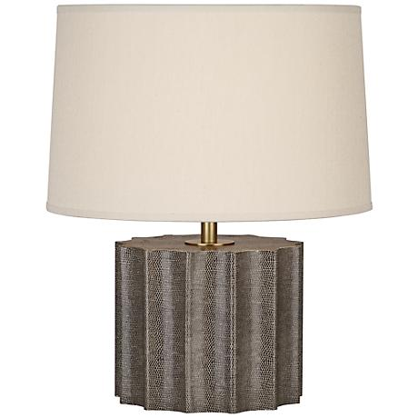 Robert Abbey Anna Faux Snakeskin and Brass Accent Lamp