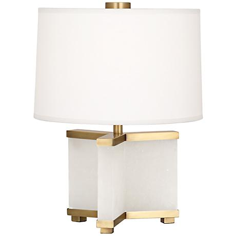 Robert Abbey Fineas Alabaster and Brass Accent Lamp