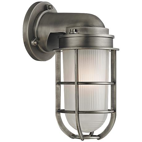 Olsen 10 Quot High Satin Nickel Wall Sconce 9h738 Www