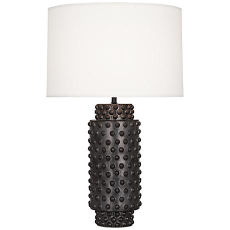 Robert Abbey Dolly Textured Gunmetal Ceramic Table Lamp