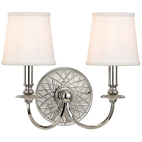 "Yates 14"" High 2-Light Polished Nickel Wall Sconce"