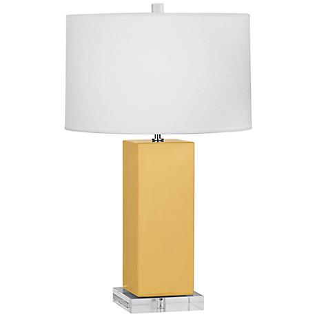 Robert Abbey Harvey Sunset Yellow Ceramic Table Lamp