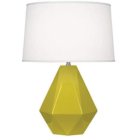 Robert Abbey Delta Citron Ceramic Table Lamp