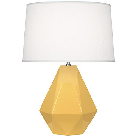 Robert Abbey Delta Sunset Yellow Ceramic Table Lamp