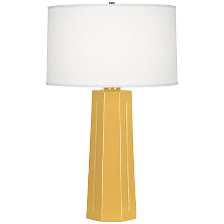 Robert Abbey Mason Sunset Yellow Ceramic Table Lamp