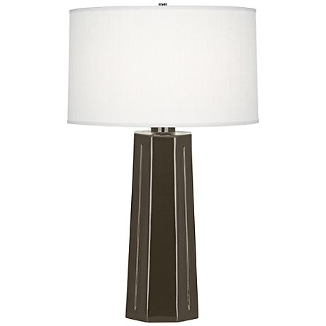 Robert Abbey Mason Brown Tea Ceramic Table Lamp