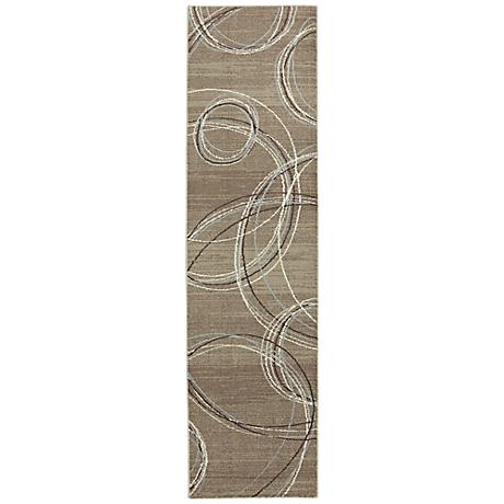 ARC Madison Spiral Stratum Dark Beige Area Rug