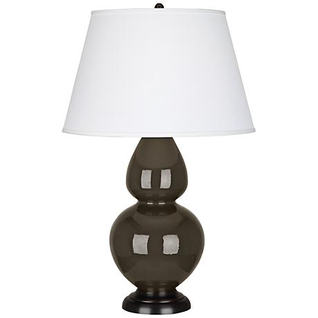 Robert Abbey Brown Tea Ceramic and Bronze Table Lamp