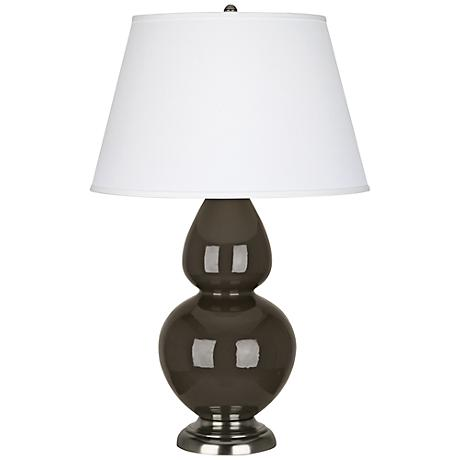 Robert Abbey Brown Tea Ceramic and Silver Table Lamp