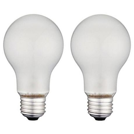 60 Watt Frosted A19 Vibration-Resistant Light Bulb 2-Pack