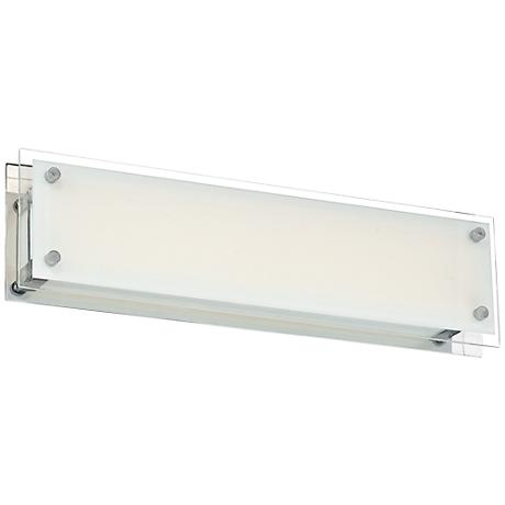 "Possini Euro DeWitt 22"" Wide Chrome LED Bathroom Light"