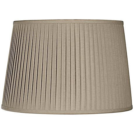 Taupe Drum Knife Pleat Shade 15x18x12 (Spider)