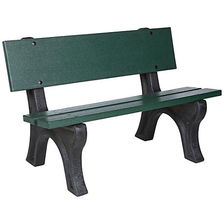 Omaha Satin Gray and Green Outdoor Depot Bench