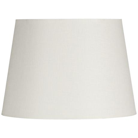 Off-White Linen Hardback Drum Shade 13x16x10 (Spider)