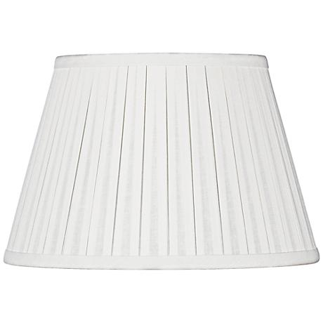 Off-White Linen Box Pleat Empire Shade 5x8x6 (Spider)