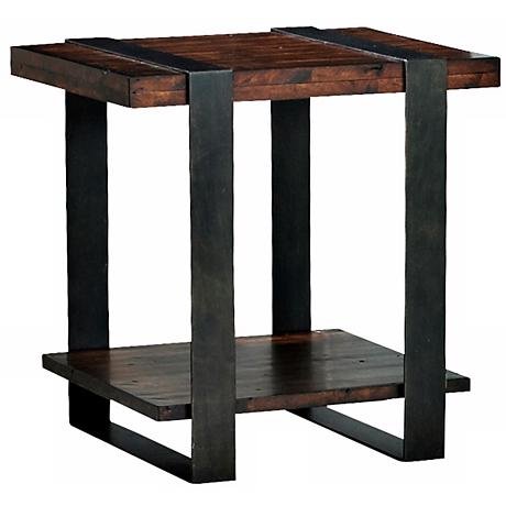Klaussner Timber Forge Reclaimed Industrial End Table
