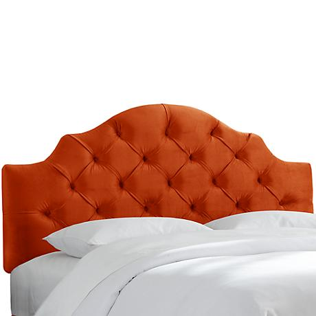 Mystere Mango Tufted Fabric Headboard
