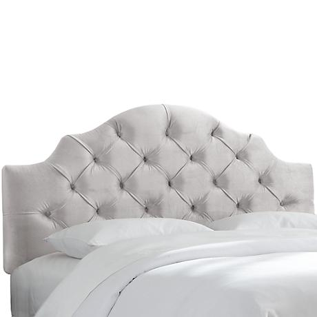 Mystere Dove Tufted Fabric Headboard