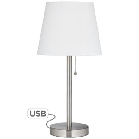 nightstand lamp with usb table lamp with usb port. Black Bedroom Furniture Sets. Home Design Ideas